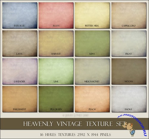 Heavenly  Vintage Texture Set