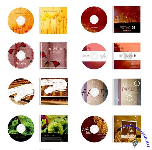 CD Label Design PSD