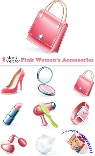 Pink Women's Accessories Vector