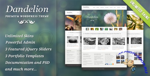 ThemeForest Dandelion - Powerful Elegant Theme v 2.6.6