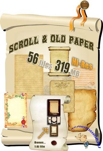 Scrolls and old paper