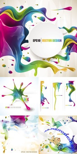 Paint Splashes Backgrounds Vector