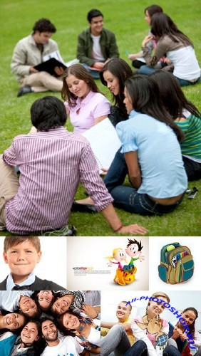 Education, school and students - Stock Photo