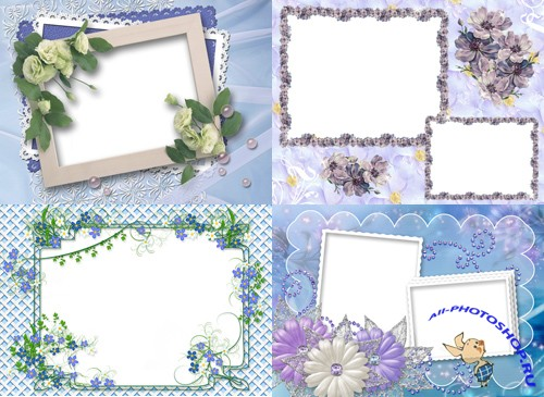 Photo Frame - Purple flowers