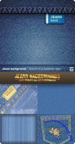Stock Vector - Jeans Backgrounds