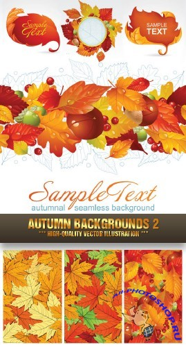 Stock Vector - Autumn Backgrounds 2