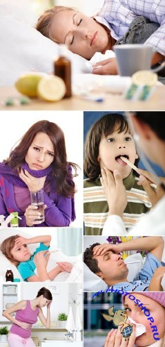 Stock Photo - Sick People
