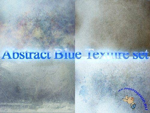Abstract Blue Texture Set