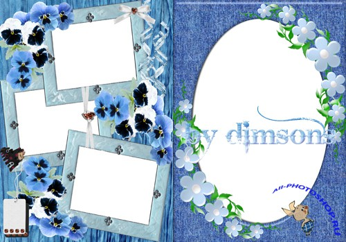 Photo Frame - Small flowers