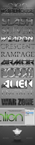 GraphicRiver - Alien Warehouse - Text Actions