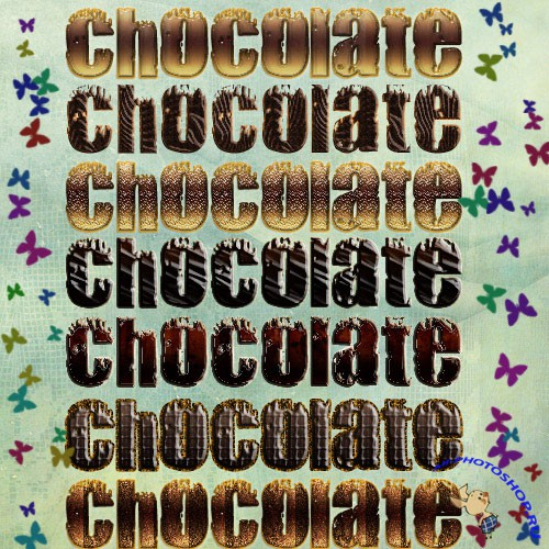 Chocolate text styles