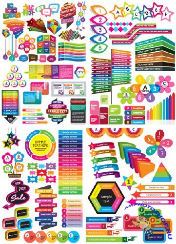 Colorful Web Design Elements