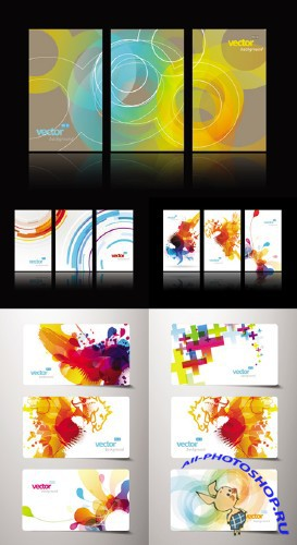 Gift Cards with Abstract Designs