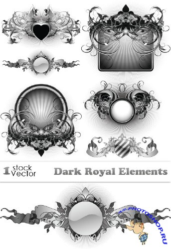 Dark Royal Elements Vector
