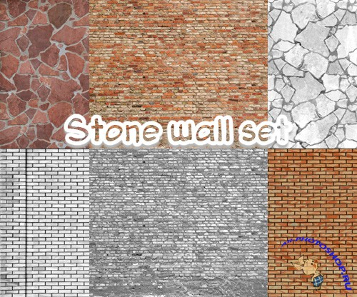 Stone wall texture collection