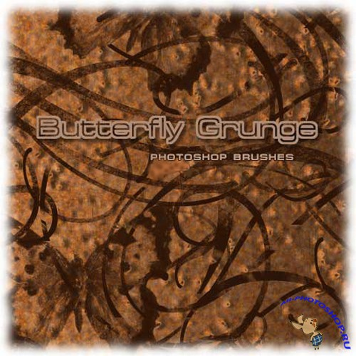 Butterfly Grunge Brush Set