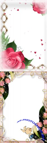 Photo Frame - Beautiful roses