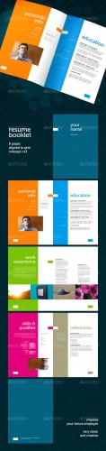 GraphicRiver - Resume Booklet (8 pages)
