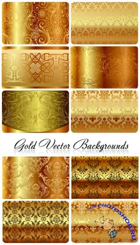 Gold Vector Backgrounds
