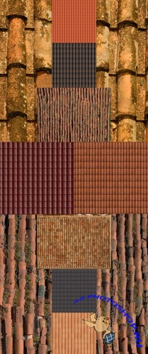A set of textures roofs