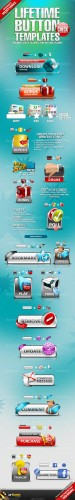 GraphicRiver - Lifetime Button Templates REUPLOAD