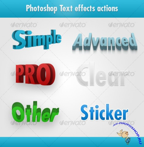 GraphicRiver - Photoshop awesome text effects