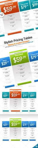 GraphicRiver - Stylish 2 pricing table designs