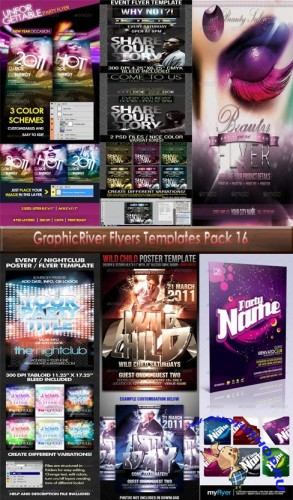 GraphicRiver Flyers 06 Templates Pack 16