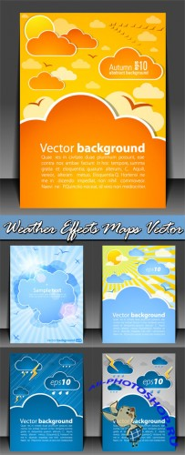 Weather Effects Maps Vector