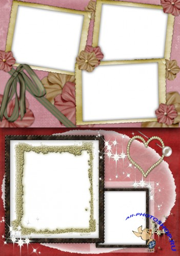 Photo Frame - Burgundy Flowers