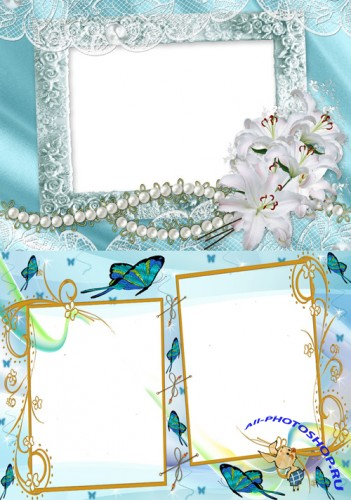 Photo Frame - Delicate white lilies