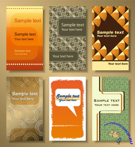 Set Of Vector Business Cards 01