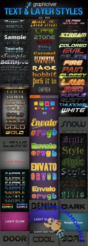 GraphicRiver Text & Layer Styles Pack # 3