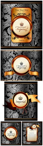 Silver Gold Vector Backgrounds - Gold, Silver, patterns, vector, background