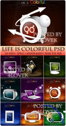 Life is Colorful PSD