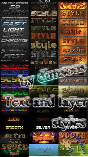 Text & Layer Styles Pack # 4
