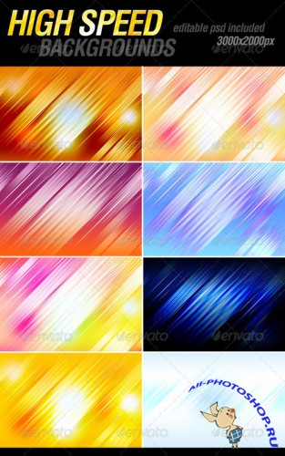 GraphicRiver - High speed backgrounds