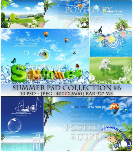 Summer PSD Collection #6
