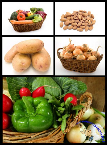 Stock Photo Vegetables and Fruits