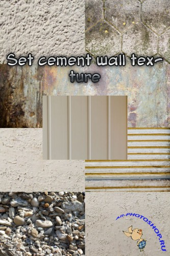 Set cement wall texture