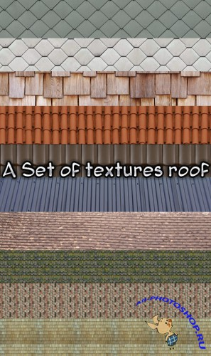 A set of textures roof