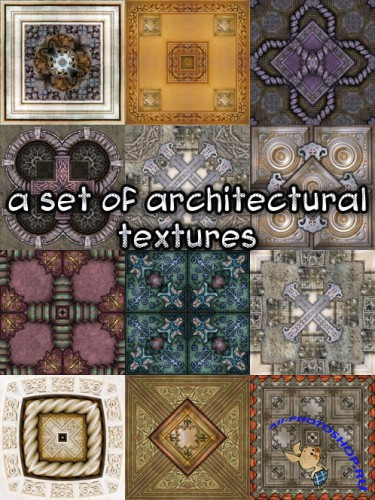 A set of architectural textures