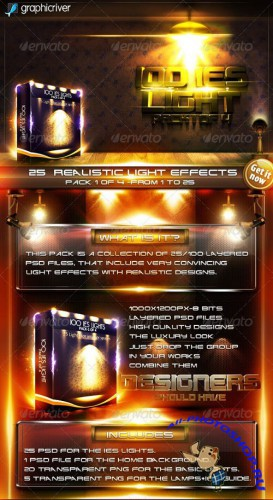 GraphicRiver 25 IES Lights - Pack 1 of 4