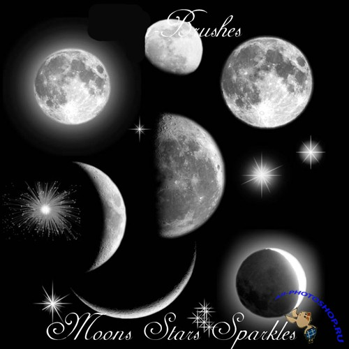Moons Stars Brushes