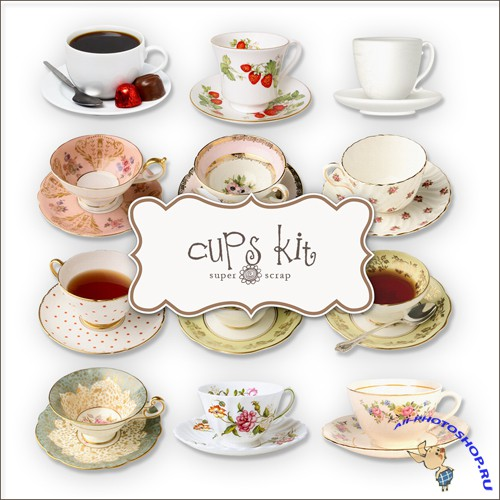 Scrap-kit - Tea Cups
