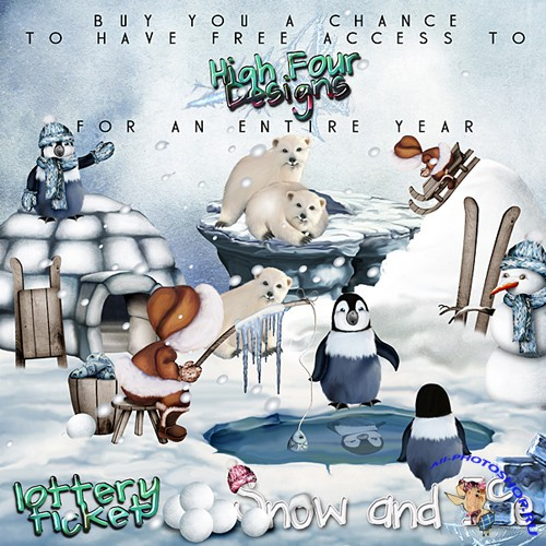 Scrap-set - Snow and Ice by High Four Designs