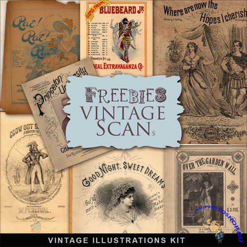 Scrap-kit - Vintage Illustrations #5