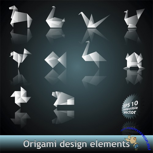 Origami Design Elements Vector