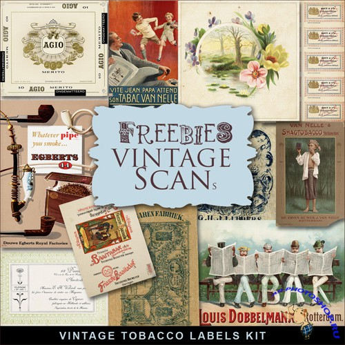 Scrap-kit - Vintage Tobacco Labels