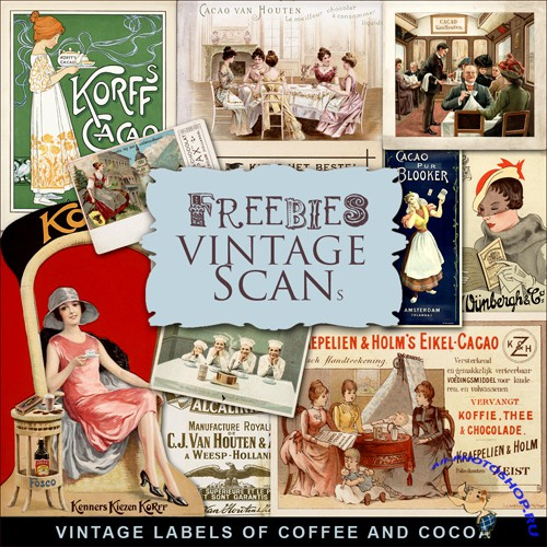 Scrap-kit - Vintage Labels Of Coffee And Cocoa